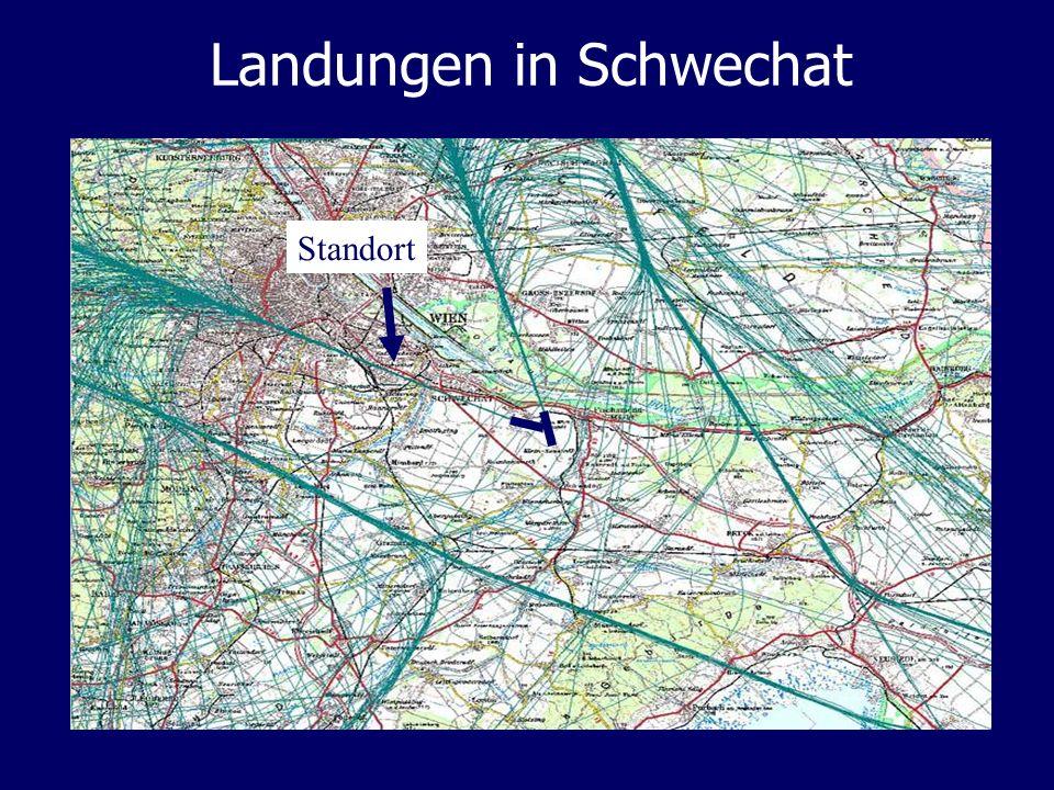 Landungen in Schwechat Standort