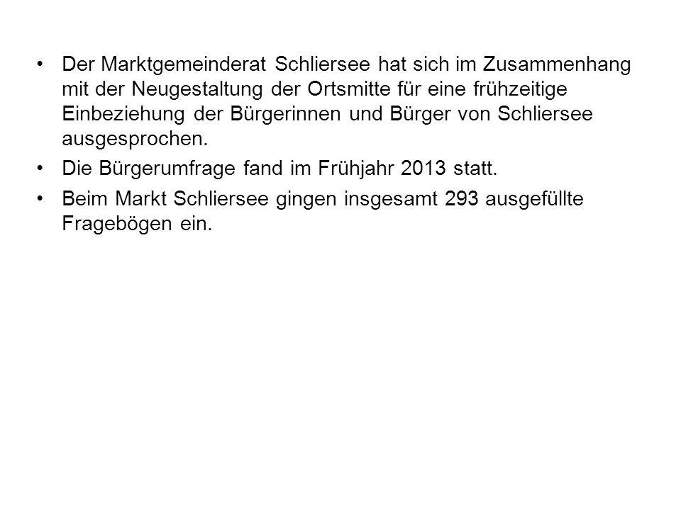 Der Marktgemeinderat Schliersee hat sich im Zusammenhang mit der Neugestaltung der Ortsmitte für eine frühzeitige Einbeziehung der Bürgerinnen und Bür