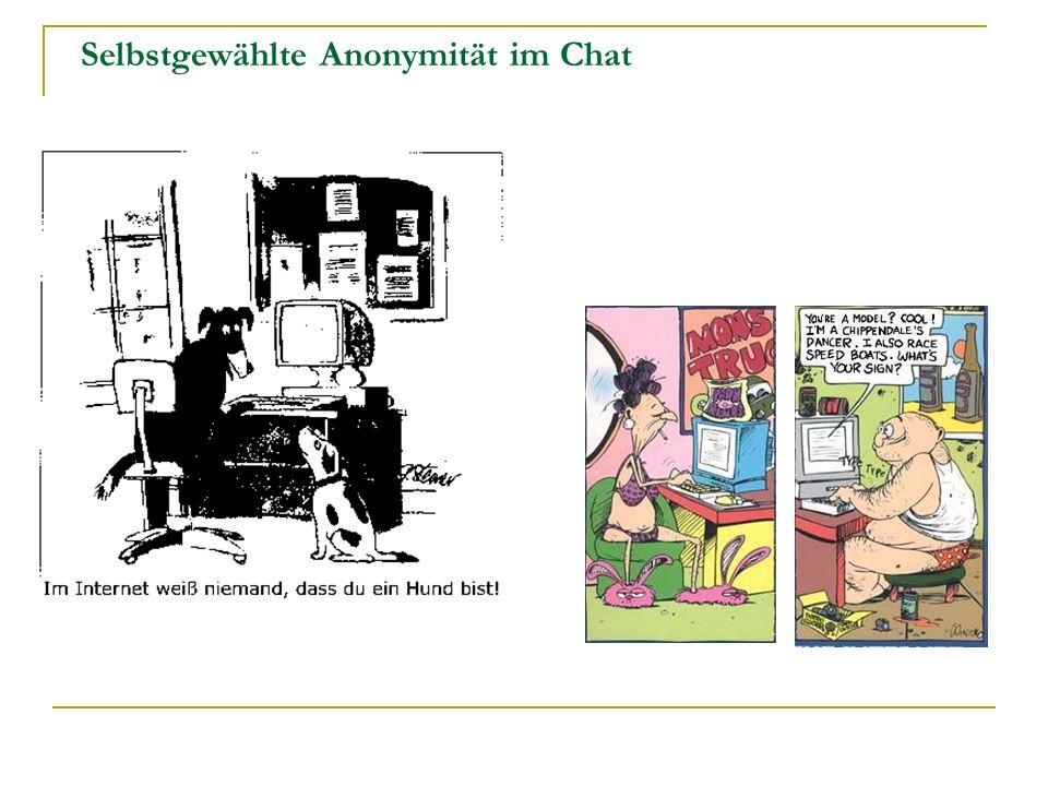 Selbstgewählte Anonymität im Chat