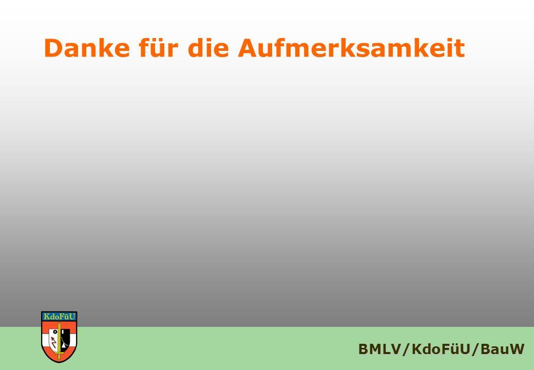 BMLV/KdoFüU/BauW Danke für die Aufmerksamkeit