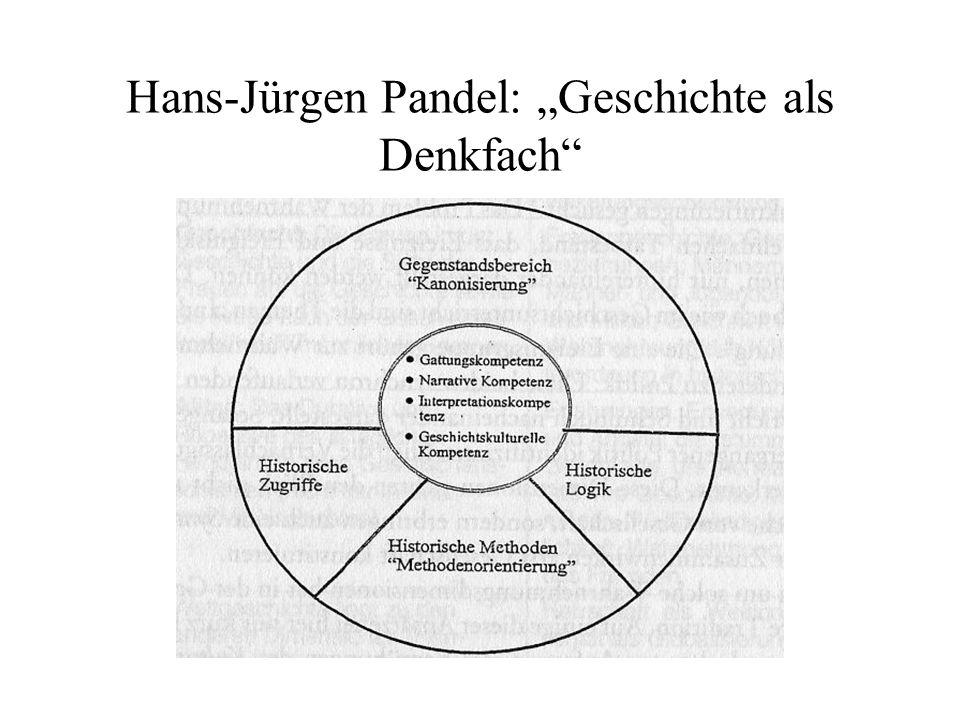 Hans-Jürgen Pandel: Geschichte als Denkfach