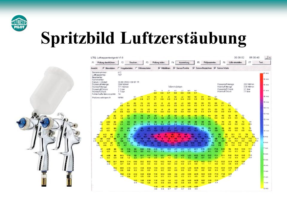 Spritzbild Luftzerstäubung