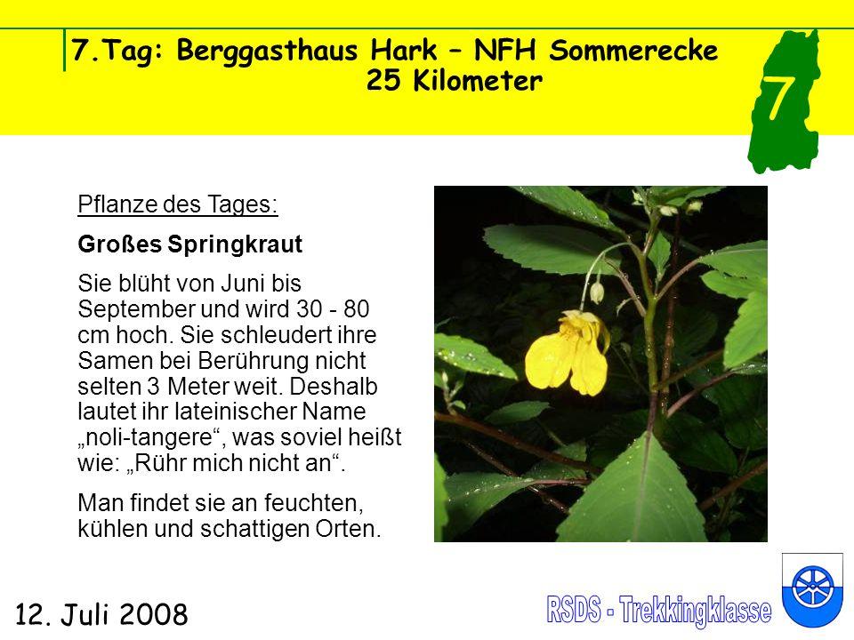 7.Tag: Berggasthaus Hark – NFH Sommerecke 25 Kilometer 12.