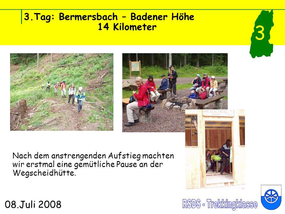3.Tag: Bermersbach – Badener Höhe 14 Kilometer 08.Juli 2008 3 Im Regen gings an der Schwarzenbach- talsperre vorbei.