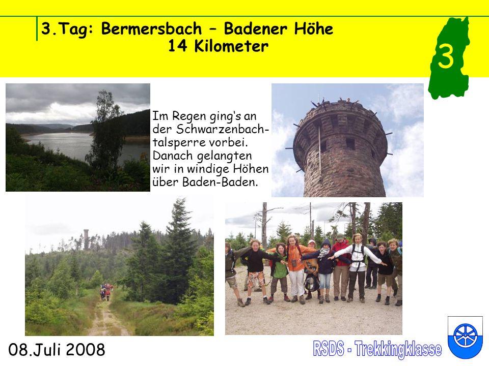 3.Tag: Bermersbach – Badener Höhe 14 Kilometer 08.Juli 2008 3 Pflanze des Tages: Rote Lichtnelke (lat.: Silene dioica) Es gibt sie auch in weiß und rosa.