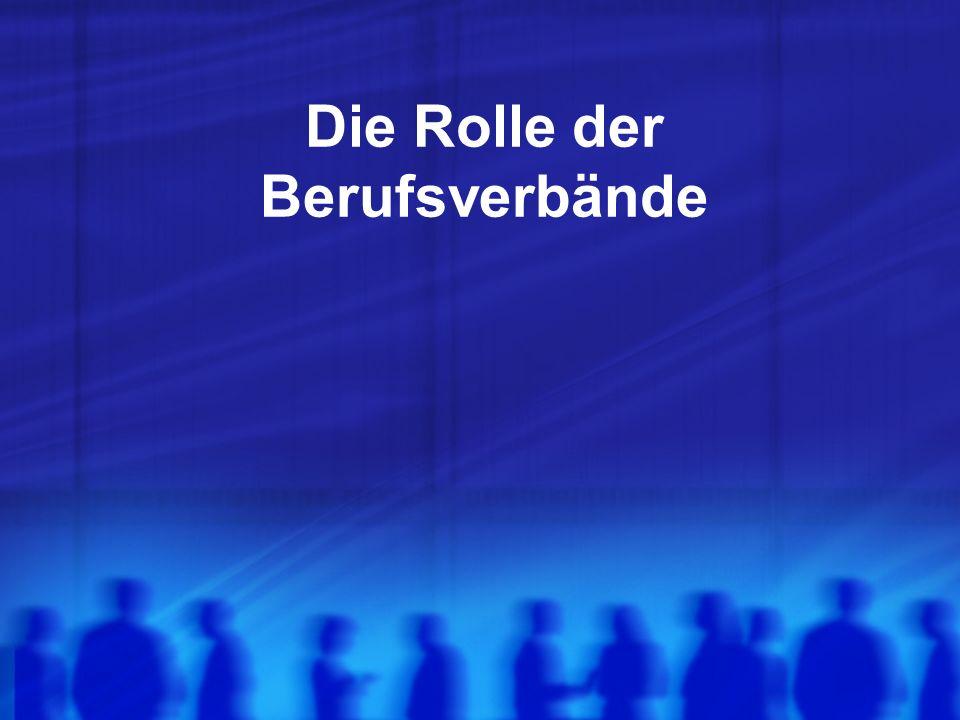 Die Rolle der Berufsverbände