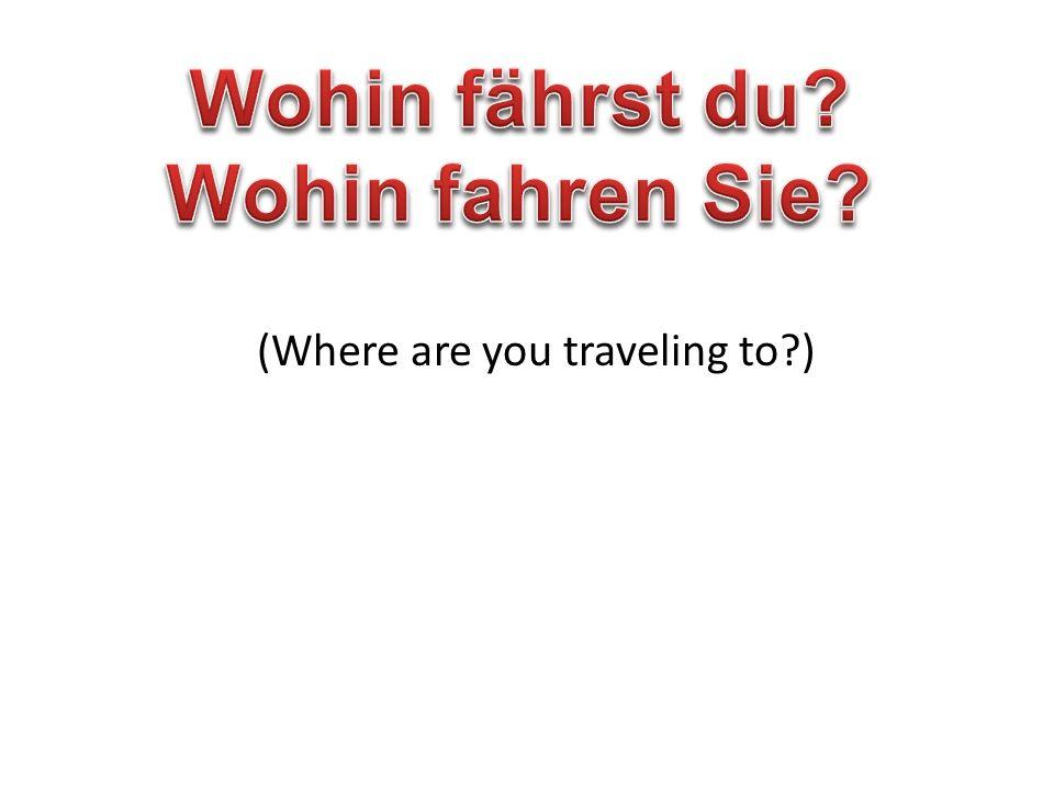 Wohin fährt John? Er fährt in die USA (pl). Plural Countries