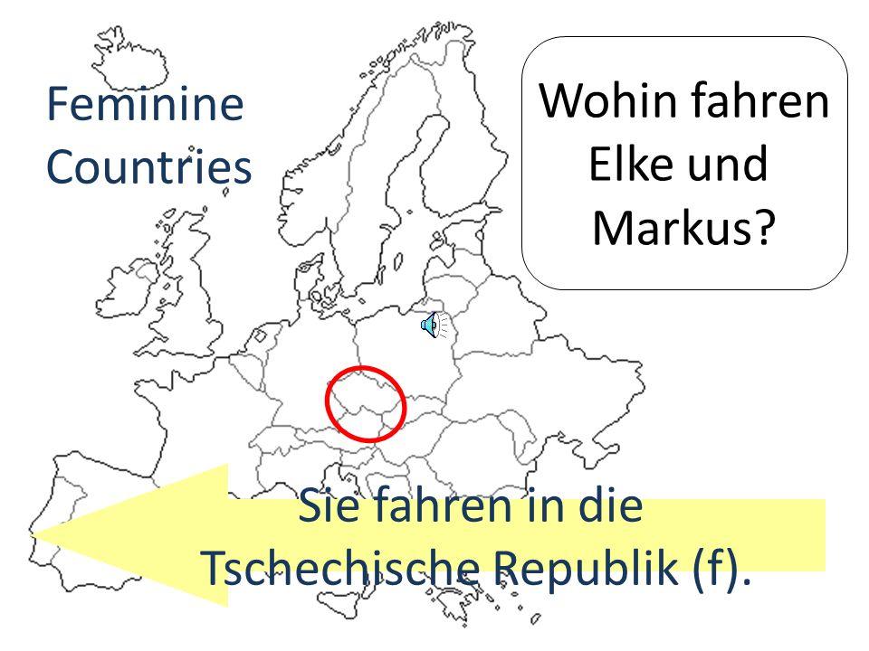 Wohin fährt Sabine? Sie fährt in die Schweiz (f) Feminine Countries