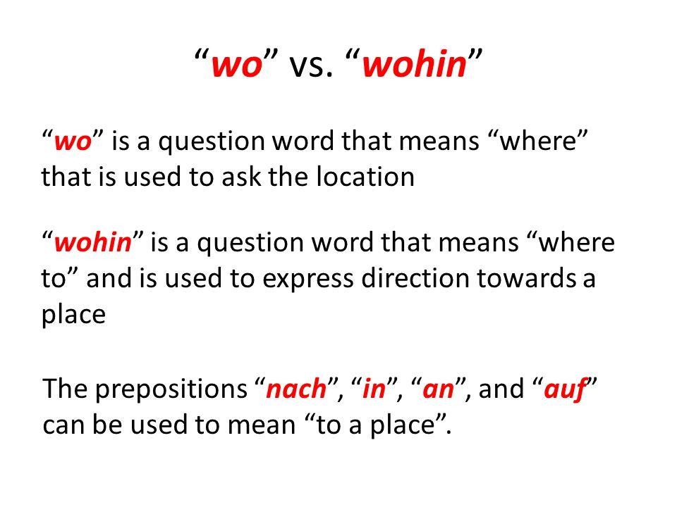 wo vs.