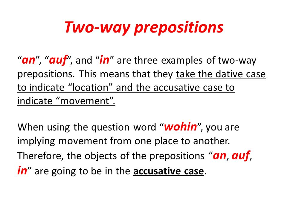 an The preposition an is used to indicate going to a body of water.