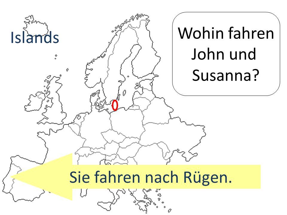 Wohin fahren John und Susanna? Sie fahren nach Rügen. Islands