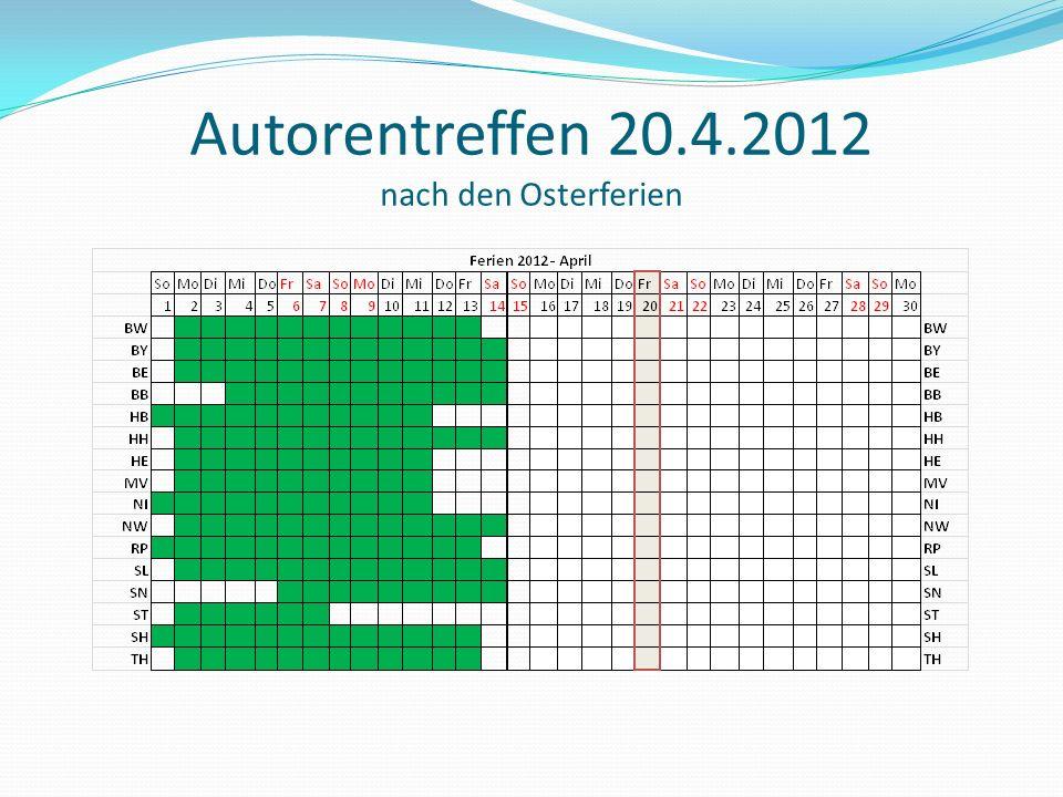 Autorentreffen 20.4.2012 nach den Osterferien