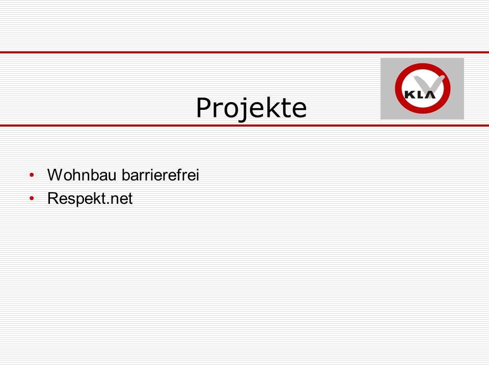 Projekte Wohnbau barrierefrei Respekt.net