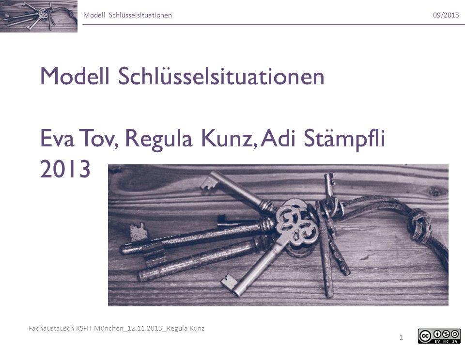 Fachaustausch KSFH München_12.11.2013_Regula Kunz Modell Schlüsselsituationen09/2013 Sie dürfen: das Werk bzw.