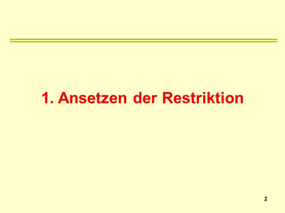 1. Ansetzen der Restriktion 2
