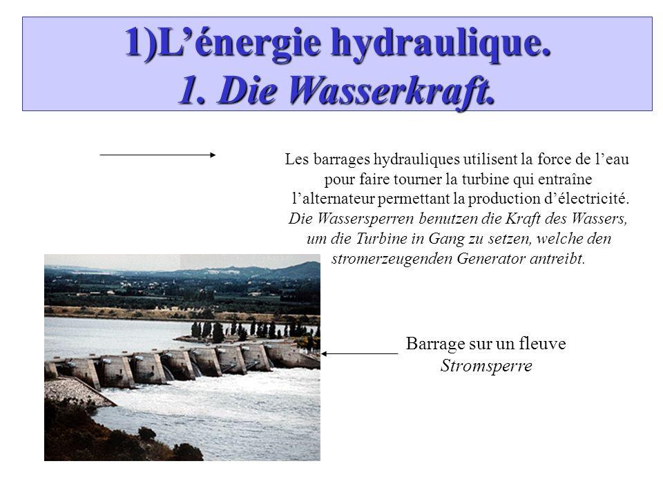 1)Lénergie hydraulique. 1. Die Wasserkraft.