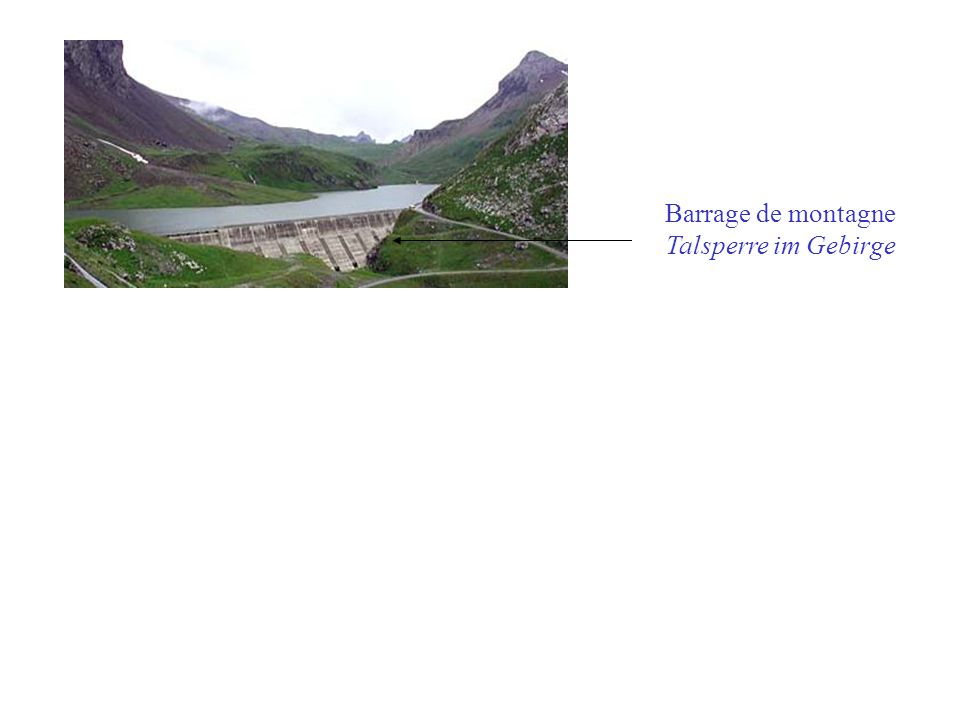Barrage de montagne Talsperre im Gebirge