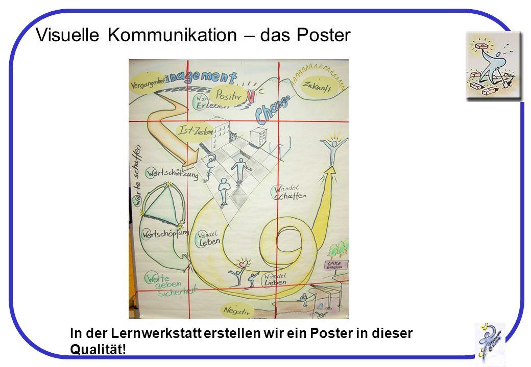 Visuelle Kommunikation – das Poster In der Lernwerkstatt erstellen wir ein Poster in dieser Qualität!