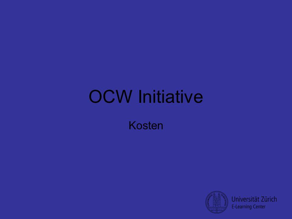 OCW Initiative Kosten