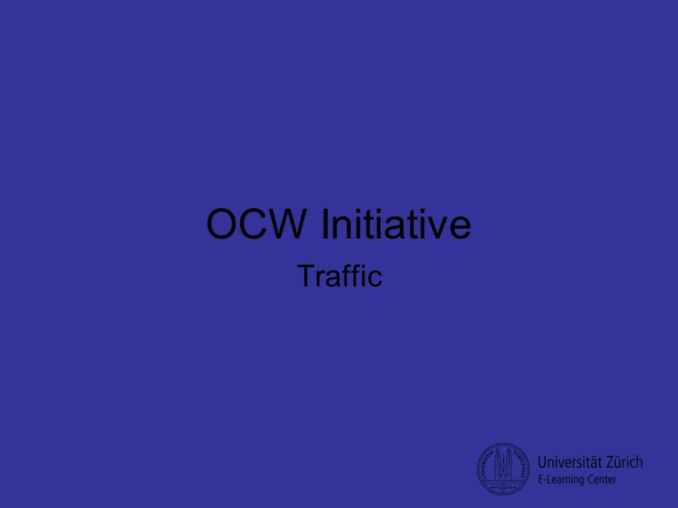 OCW Initiative Traffic