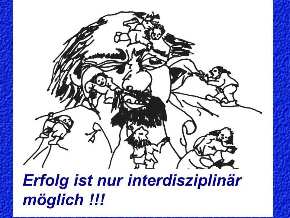 Schiegler 2006 17 Erfolg ist nur interdisziplinär möglich !!!