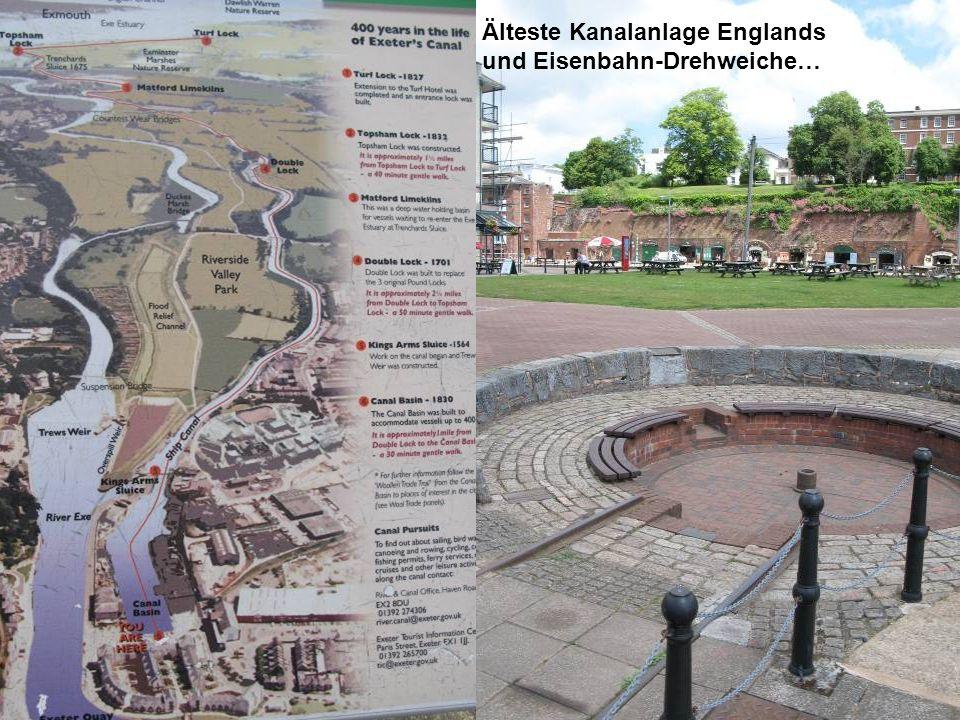 Älteste Kanalanlage Englands und Eisenbahn-Drehweiche…