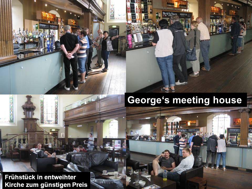 Georges meeting house Frühstück in entweihter Kirche zum günstigen Preis