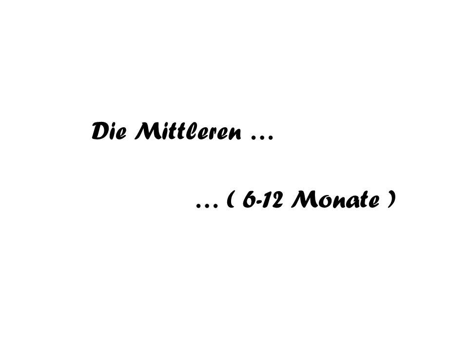 Die Mittleren … … ( 6-12 Monate )