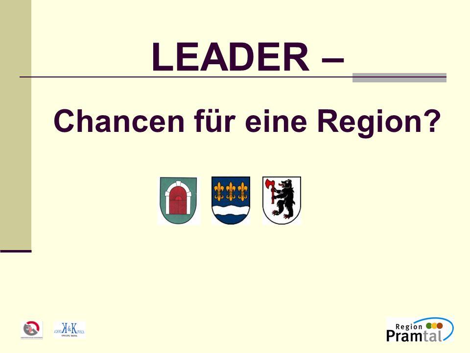 LEADER – Chancen für eine Region