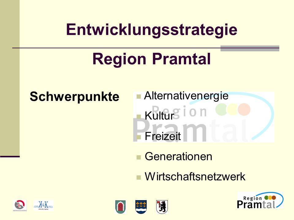 Entwicklungsstrategie Region Pramtal Schwerpunkte Alternativenergie Kultur Freizeit Generationen Wirtschaftsnetzwerk