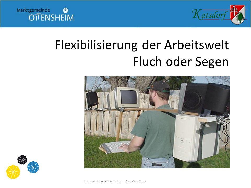 Präsentation_Assmann_Gräf 12. März 2012 Flexibilisierung der Arbeitswelt Fluch oder Segen