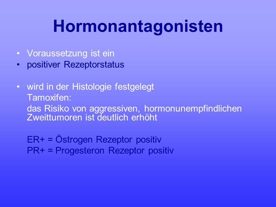 Hormonantagonisten Voraussetzung ist ein positiver Rezeptorstatus wird in der Histologie festgelegt Tamoxifen: das Risiko von aggressiven, hormonunemp