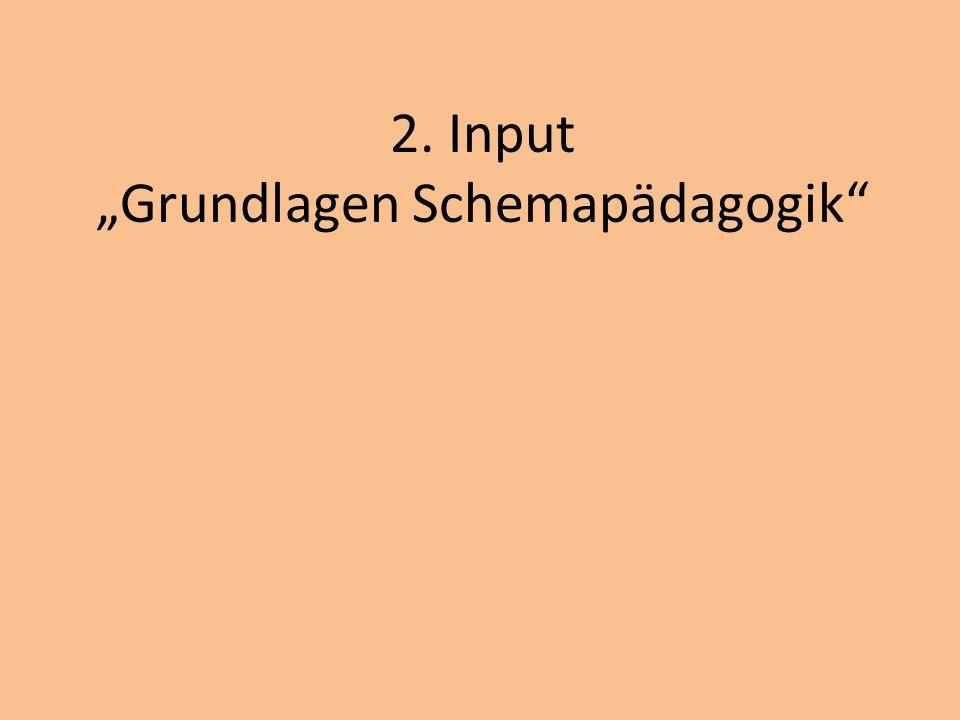 2. Input Grundlagen Schemapädagogik