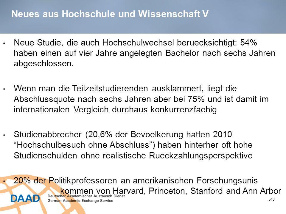 Neues aus Hochschule und Wissenschaft V 10 Neue Studie, die auch Hochschulwechsel beruecksichtigt: 54% haben einen auf vier Jahre angelegten Bachelor nach sechs Jahren abgeschlossen.
