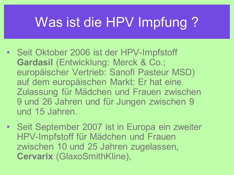 Was ist die HPV Impfung .