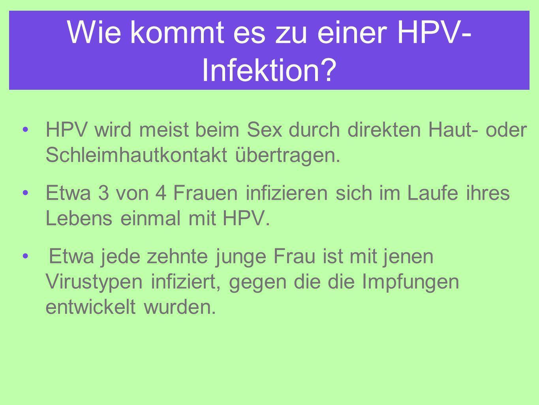 Wie kommt es zu einer HPV- Infektion.