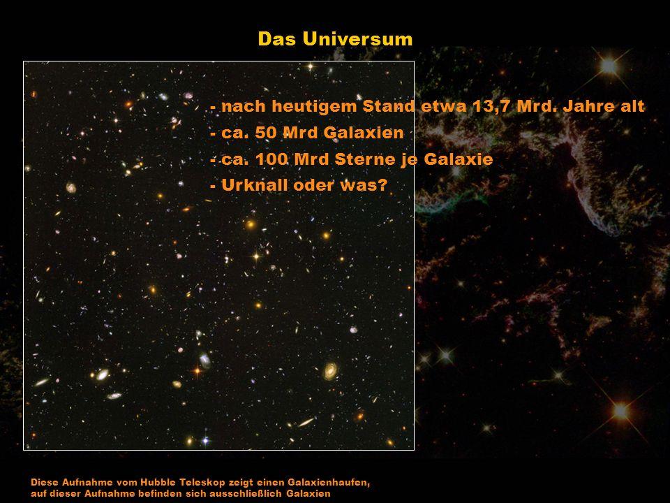 Die Galaxie - Ansammlung von vielen Sternen die sich um ein Zentrum drehen wie ein Strudel.