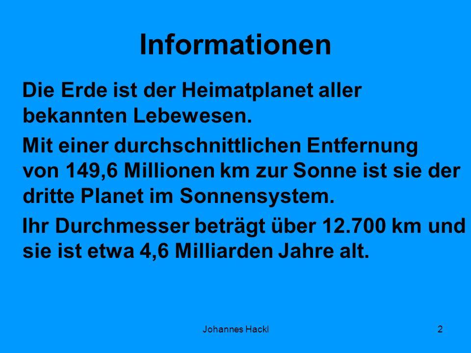Informationen Die Erde ist der Heimatplanet aller bekannten Lebewesen. Mit einer durchschnittlichen Entfernung von 149,6 Millionen km zur Sonne ist si