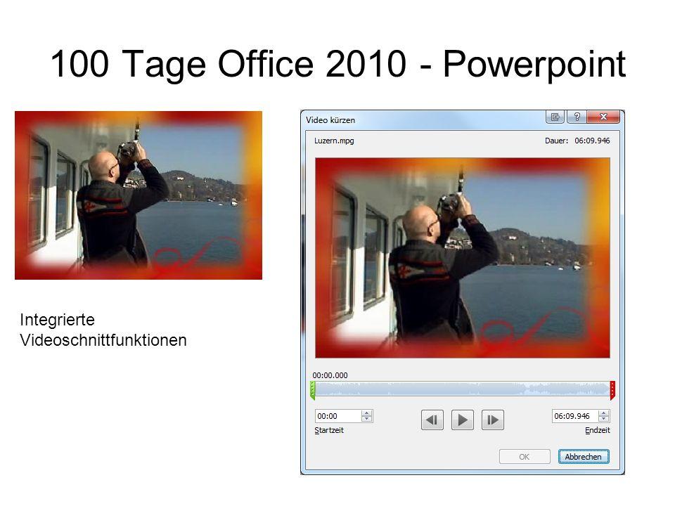 Integrierte Videoschnittfunktionen