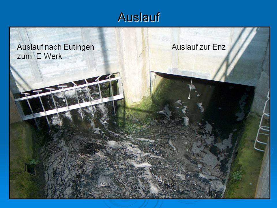 Auslauf Auslauf nach Eutingen zum E-Werk Auslauf zur Enz