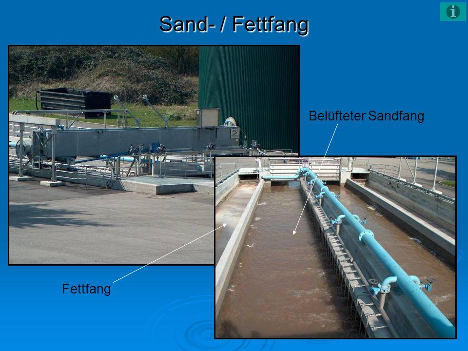 Sand- / Fettfang Belüfteter Sandfang Fettfang