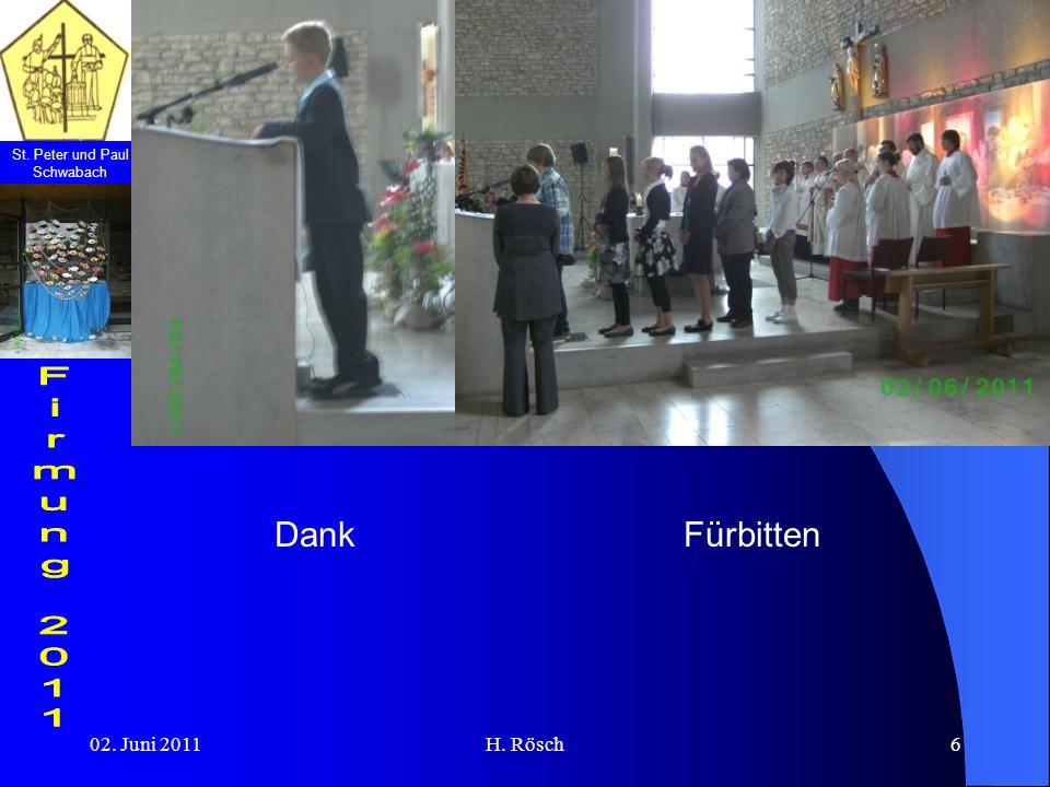 St. Peter und Paul Schwabach 02. Juni 2011H. Rösch6 FürbittenDank