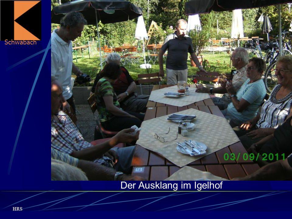 Schwabach HRS Der Ausklang im Igelhof