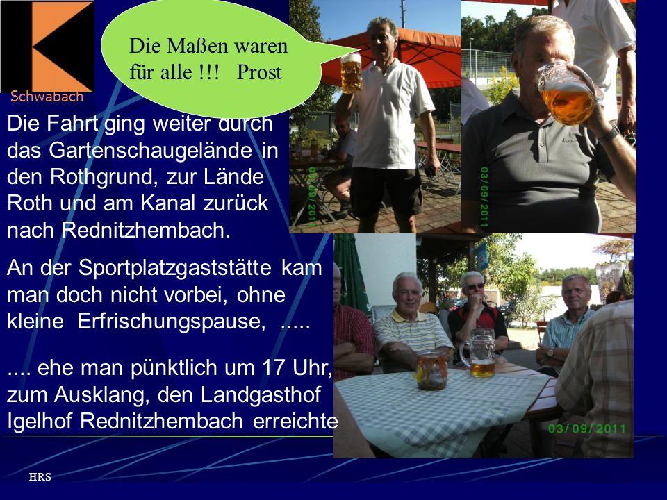 Schwabach HRS Die Fahrt ging weiter durch das Gartenschaugelände in den Rothgrund, zur Lände Roth und am Kanal zurück nach Rednitzhembach.