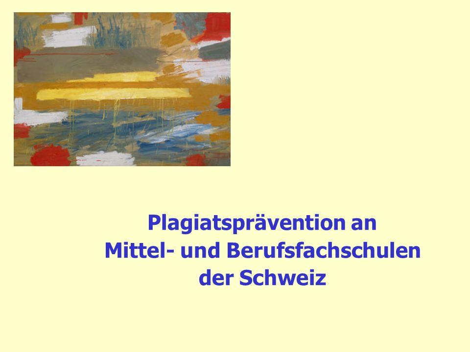 Mittelschul- und Berufsbildungsamt des Kantons Zürich Projekte Plagiatprävention digithek sinapsis 12 Std.