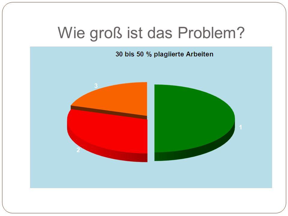 Wie groß ist das Problem