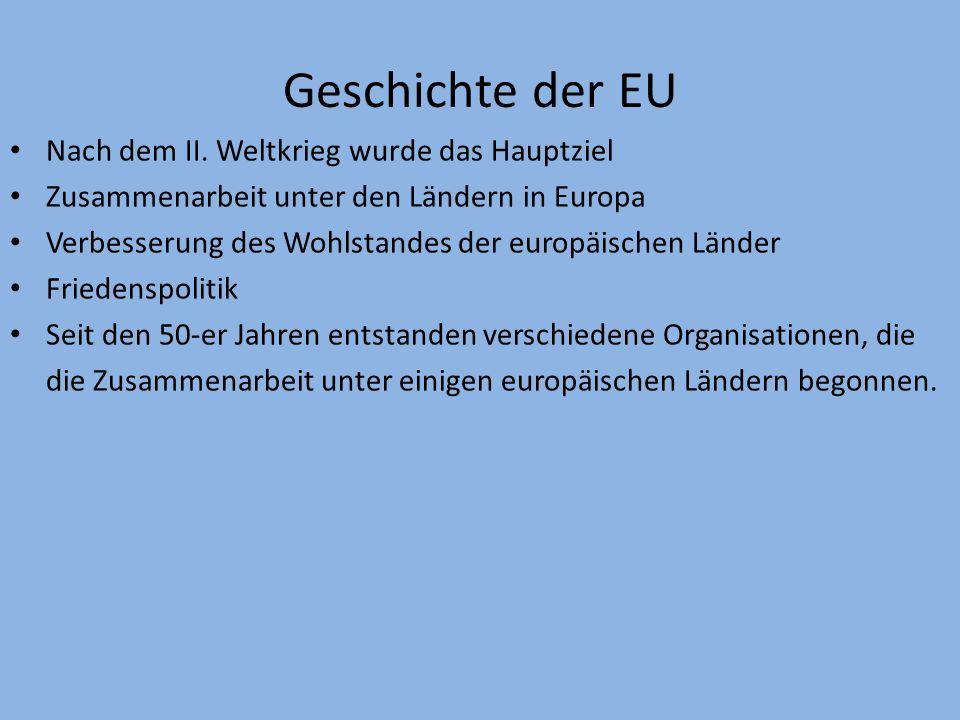 Europäische Union Geschichte Struktur Mitgliedstaaten Symbole Euro – gemeinsame Währung [obr.1] Inhalt