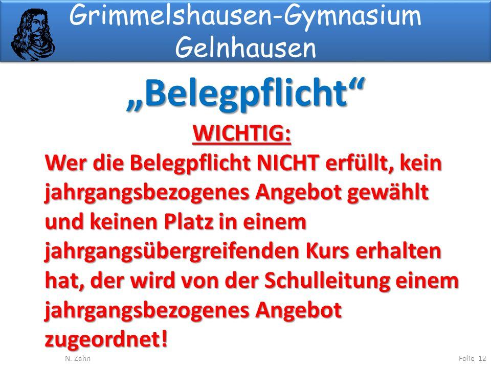 Grimmelshausen-Gymnasium Gelnhausen Belegpflicht Folie 12N.