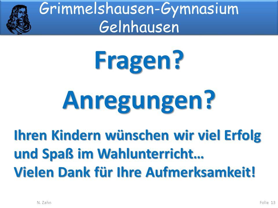 Grimmelshausen-Gymnasium Gelnhausen Fragen?Anregungen.
