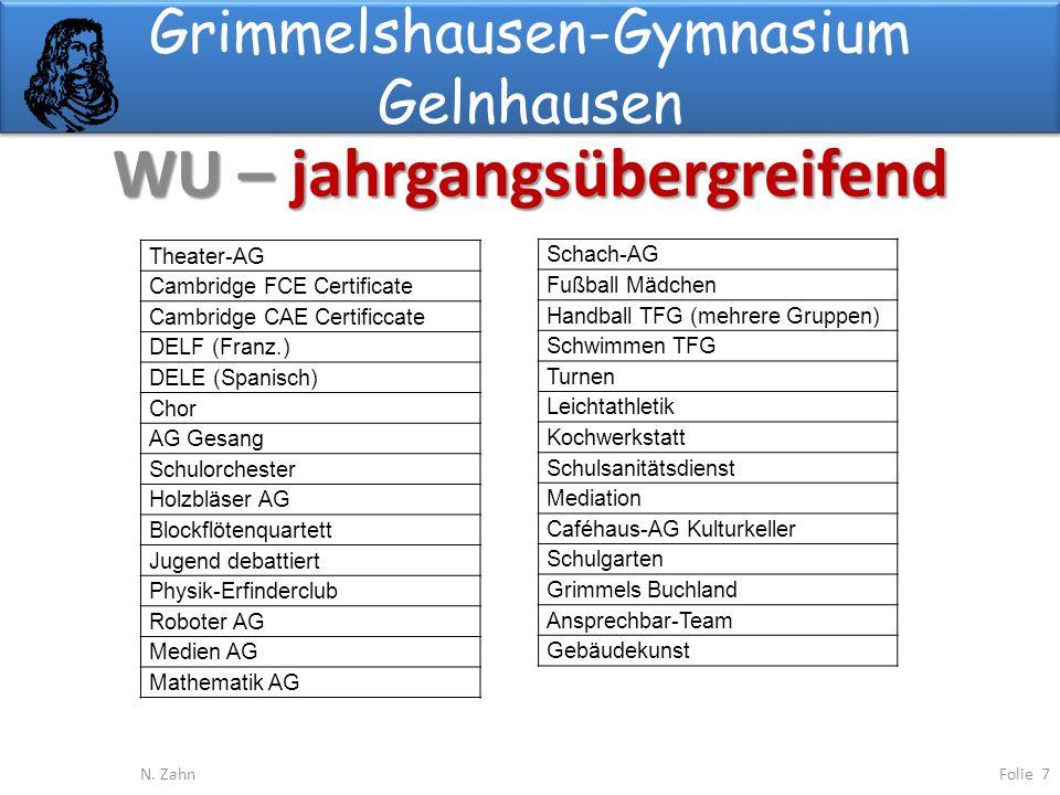 Grimmelshausen-Gymnasium Gelnhausen WU – jahrgangsübergreifend Folie 7N.